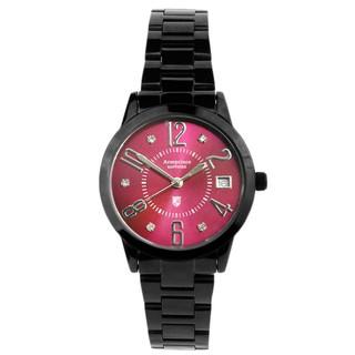 【Arseprince】時尚新魅力晶鑽女錶(黑紅) 高雄市