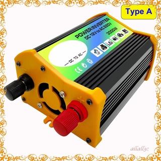 傳奇一代3000W 12V 至 220V/ 110V 雙 USB 車載電源逆變器轉換器充電器適配器電壓互感器修正正弦波