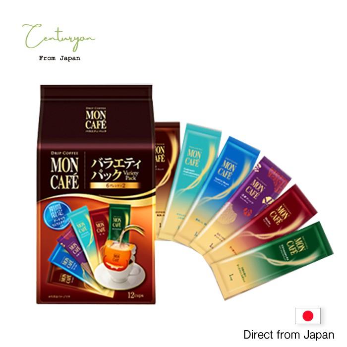 【日本空運直送】限時特價 12入 現貨 片岡物産 MON CAFE濾泡濾掛咖啡綜合6種類 93g 日本進口咖啡