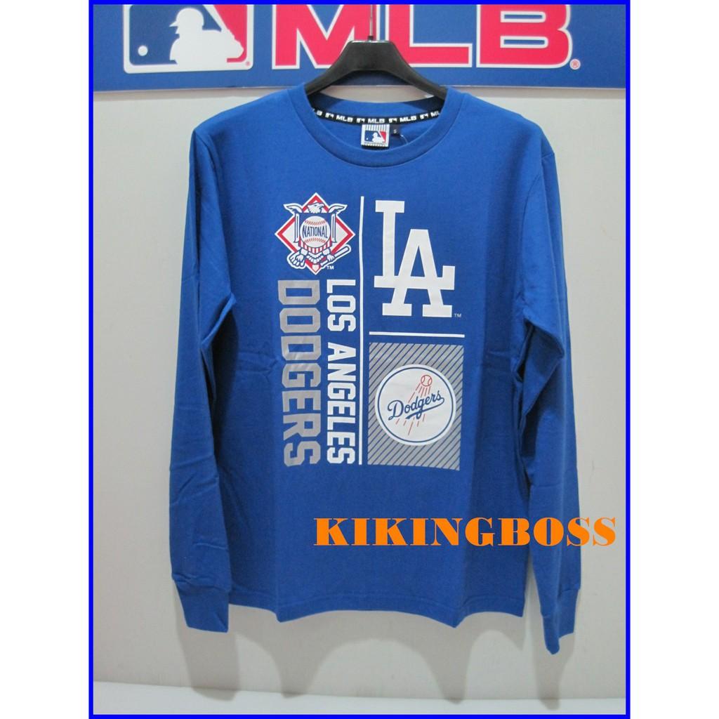 2017 MLB美國大聯盟 道奇隊 藍色薄長袖 100%棉 5760105-550