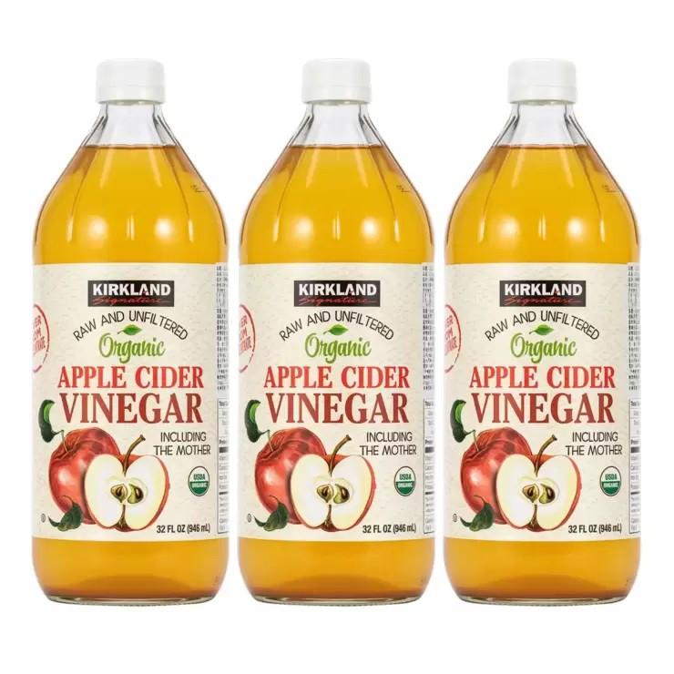 ★快速出貨★Costco科克蘭有機蘋果醋#生酮低醣者必備!無添加糖,0熱量,0碳水#新鮮蘋果釀造!