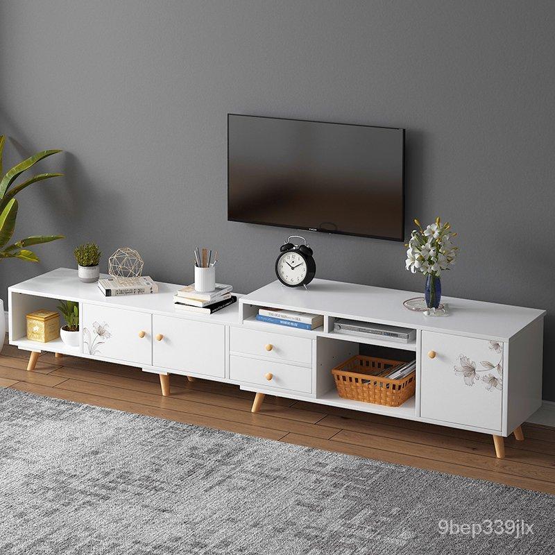 【熱銷】電視櫃現代簡約經濟型客廳多功能組合背景墻櫃簡易電視機櫃收納櫃