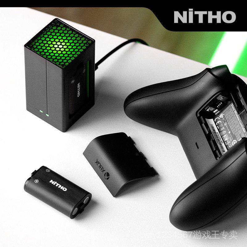 【5折】 【NiTHO】耐托XBOX Series/One S/X 無線手把充電雙充電池包配xbox配件 黑色