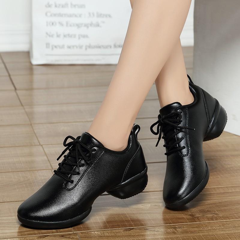小柒阿樂威舞蹈鞋成人廣場舞女鞋真皮白色軟底水兵舞鞋子運動跳舞女鞋