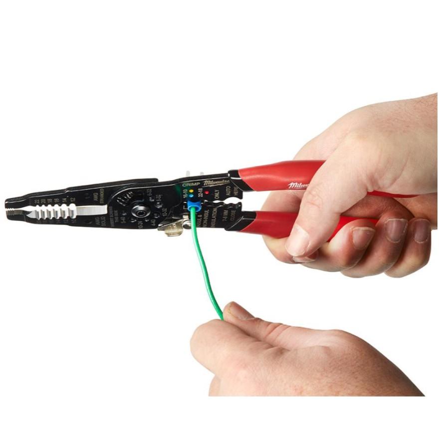【米沃奇福利社】Milwaukee 多功能 剝線鉗 壓接鉗 美沃奇 端子鉗 電工鉗 手工具