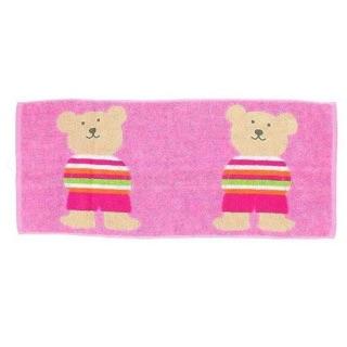 *現貨*日本Rainbow Bear 彩虹熊 純棉毛巾 長毛巾 34*80cm 兩隻大熊 台中市