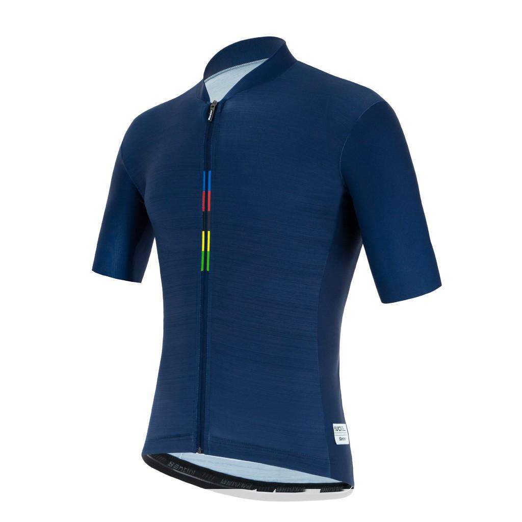 《歐瑟運動休閒館》SANTINI UCI彩虹「一流」短袖車衣-海軍藍