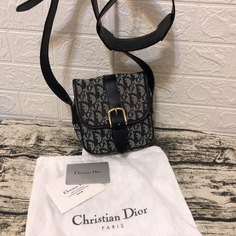 Dior藍金Logo mini相機包