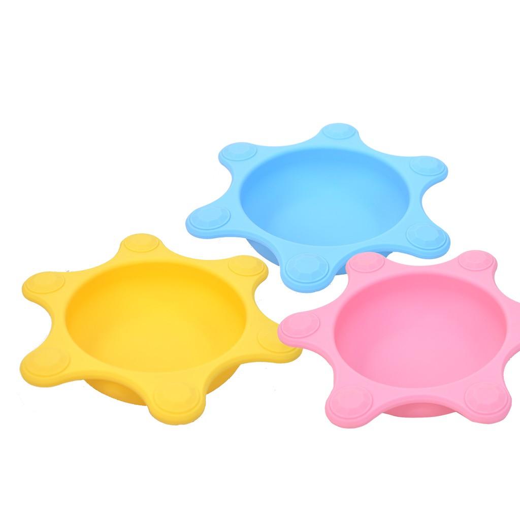 Naforye拉孚兒食在安全離乳學習碗皇冠,食品級矽膠材質製造,特賣會5折超低價優惠