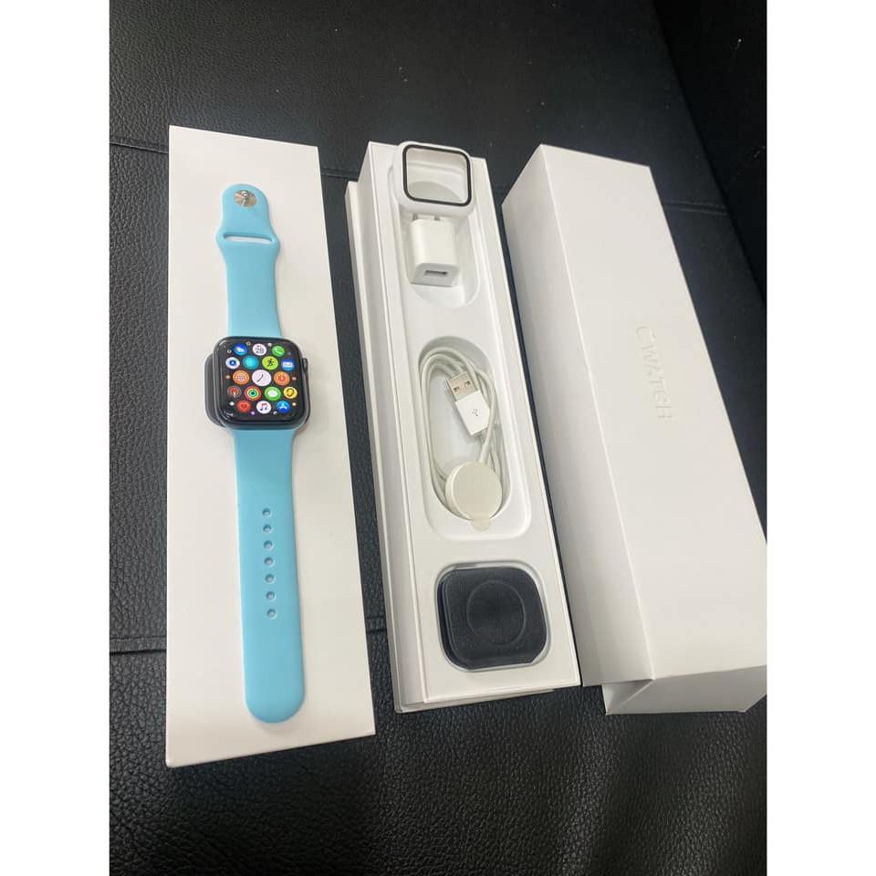 Apple Watch S5 4.4mmGPS版本 全功能正常 無綁定 可以正常使用 然後她的表帶原廠 跟客人買的都送給