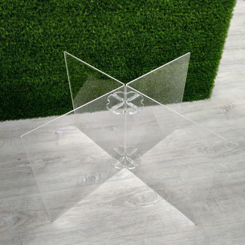 (十字型。水晶組裝式)防疫隔板/防疫板/壓克力隔板/透明隔板/餐廳隔板/ 辦公室隔板/ 防飛沫隔板