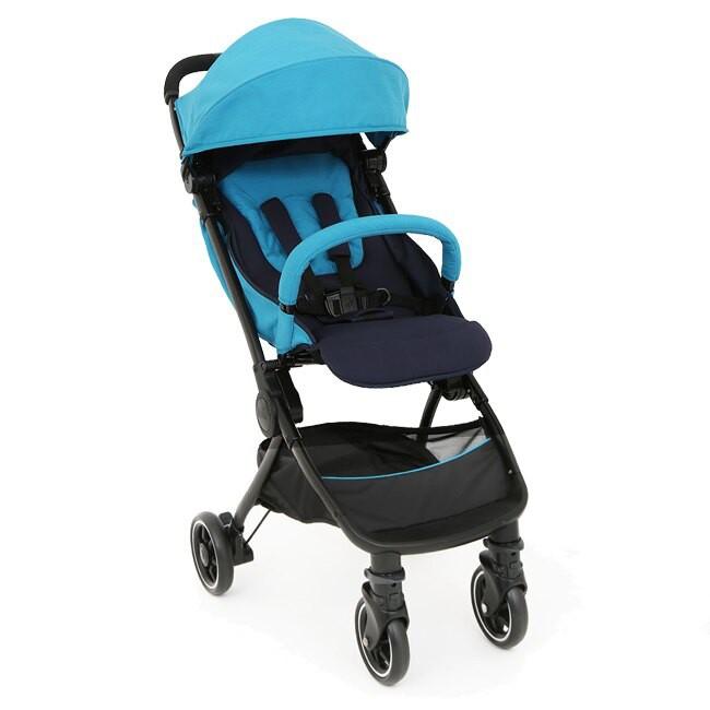 奇哥Joie pact lite dlx可折疊登機嬰兒手推車-藍/紅 內含雨套+蚊帳+收納袋