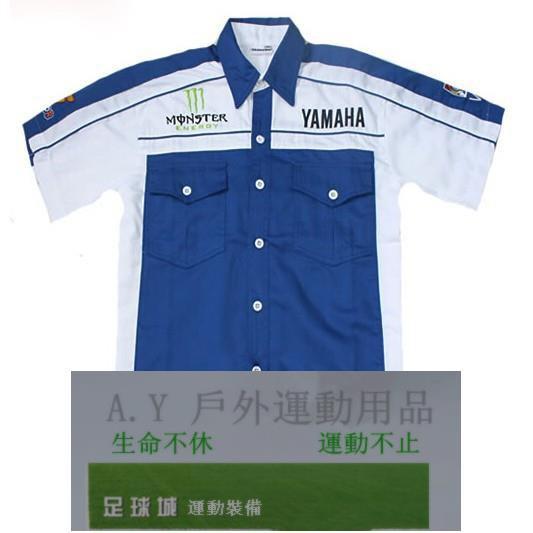 摩托車 車迷 雅馬哈賽車服 雅馬哈襯衫 YAMAHA運動襯衫 男裝襯衫 新版 機車服 短袖 經理衫戶外用品