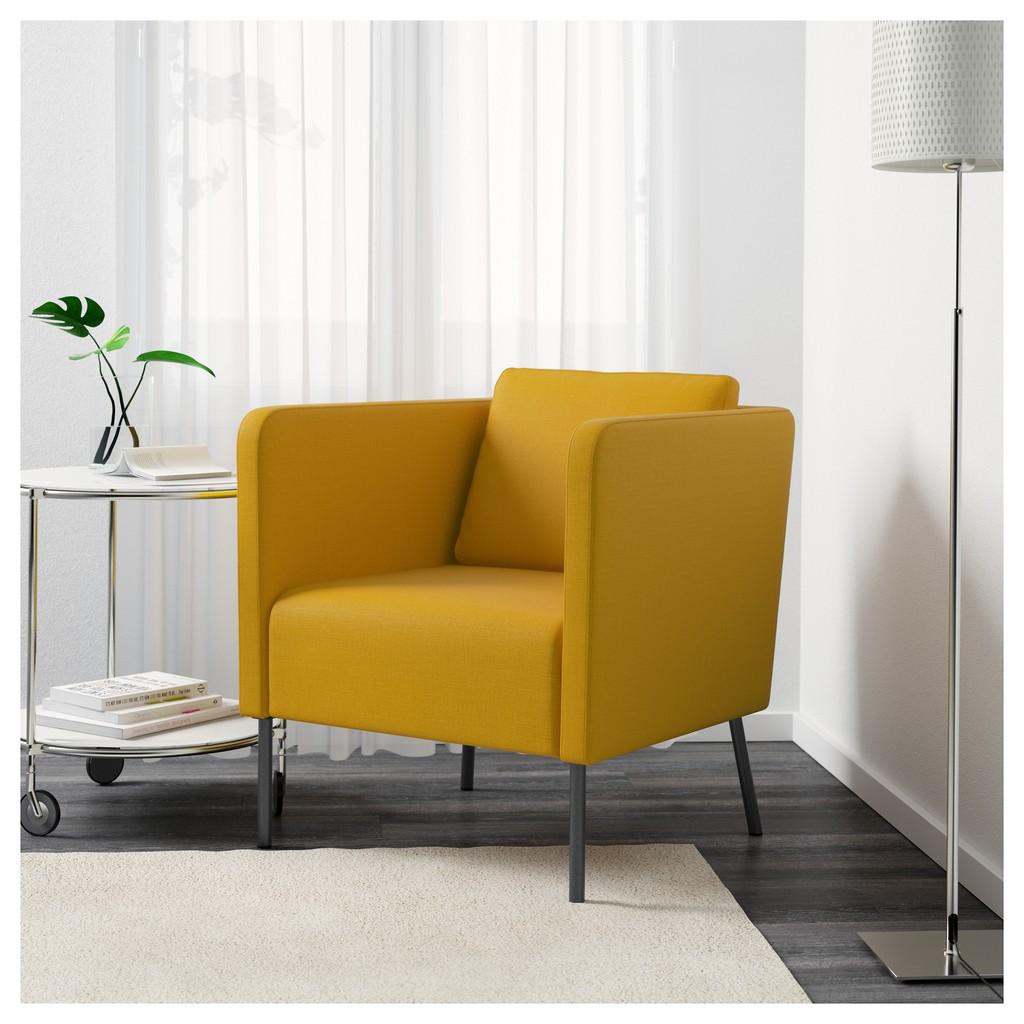 北歐工業LOFT風格IKEA宜家EKERÖ單人沙發/扶手椅/skiftebo黃色/二手九成新/原$4990特$3300