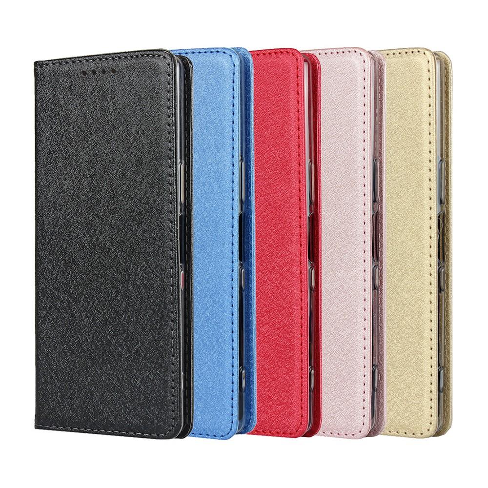 Sony Xperia XZ Premium XZs XZ1 Compact XZ2 XZ3 保護套超薄蠶絲紋手機皮套