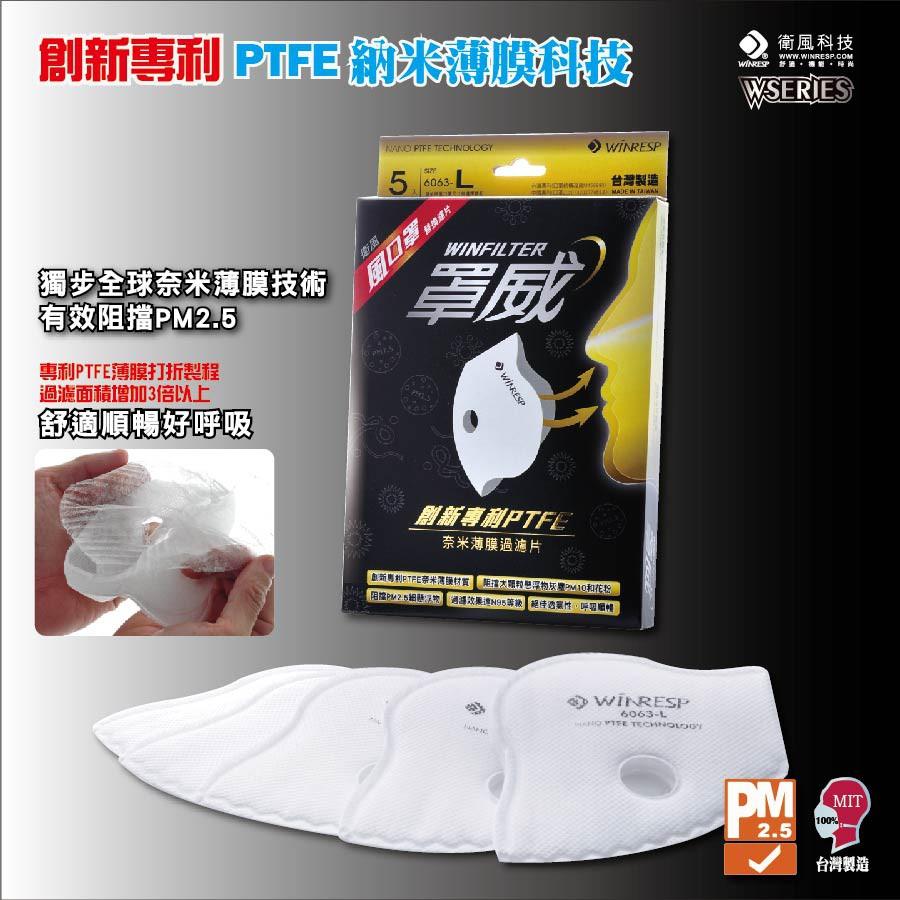 WiNRESP 衛風-風口罩  罩威 頂級過濾片(一盒五片)⭐限購兩盒⭐️Respro可替代 (無法單獨當口罩使用)