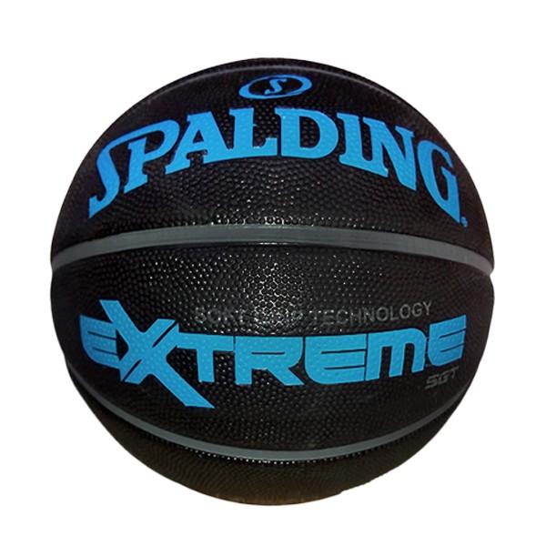 SPALDING 斯伯丁 籃球 室外球 NBA SGT 橡膠 深溝 柔軟 黑藍色【SPA83306】