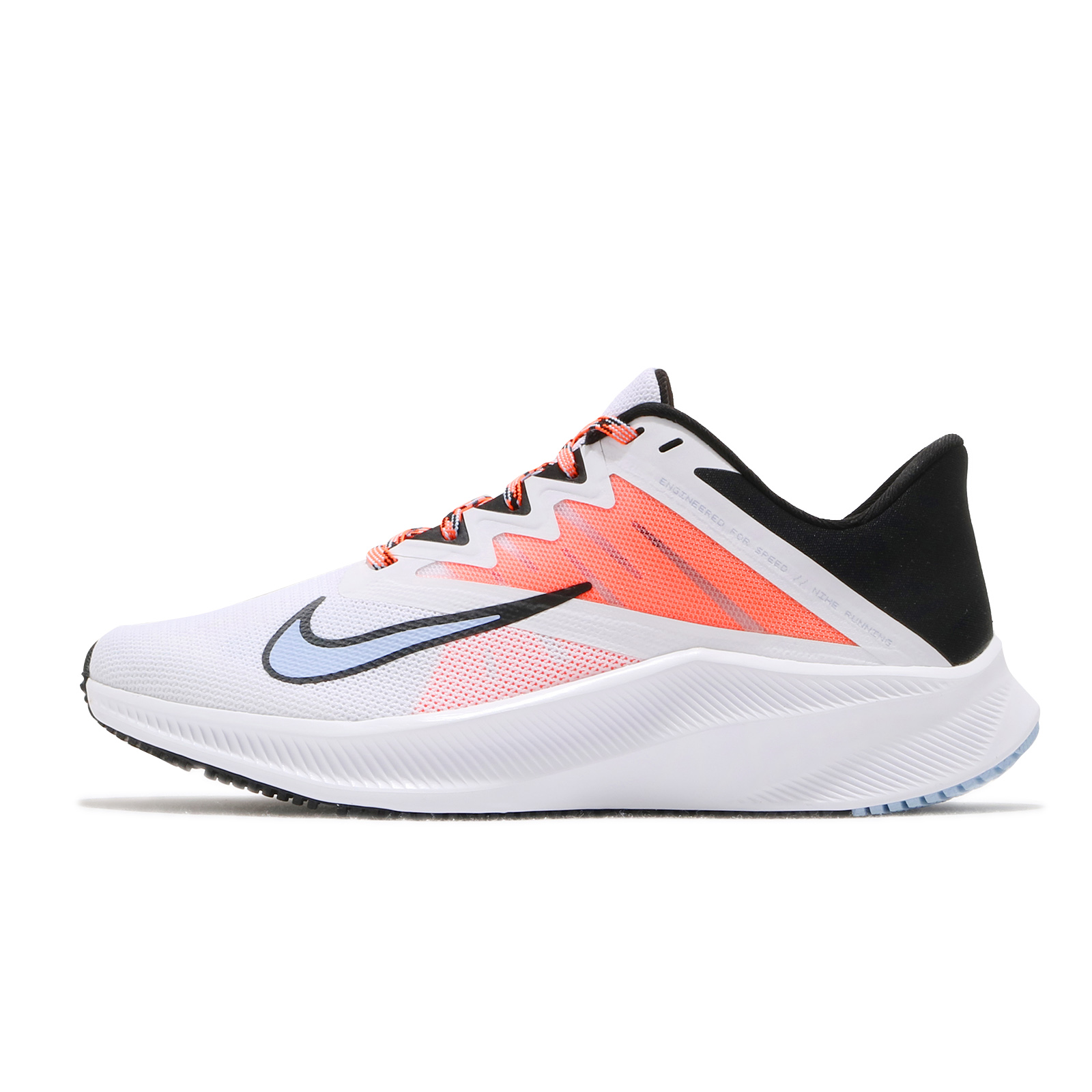 Nike 慢跑鞋 Wmns Quest 3 白 橘 藍 女鞋 路跑 運動鞋 【ACS】 CD0232-101