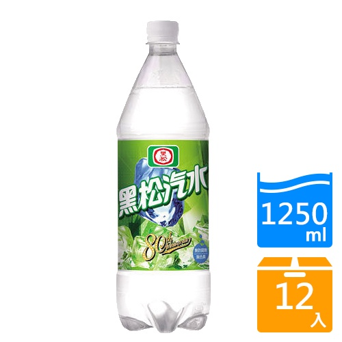 黑松汽水1250mlx12入/箱【愛買】