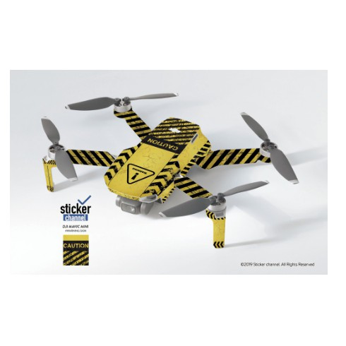【 E Fly 】「客製預購」DJI MAVIC MINI 彩繪 貼紙 WARNING SIGN 警告 機身貼紙