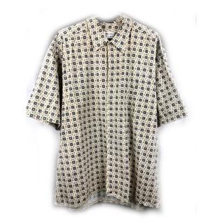 美國帶回♨️Pierre Cardin 米色短袖花襯衫♨️古著 復古 古着 二手 新北市