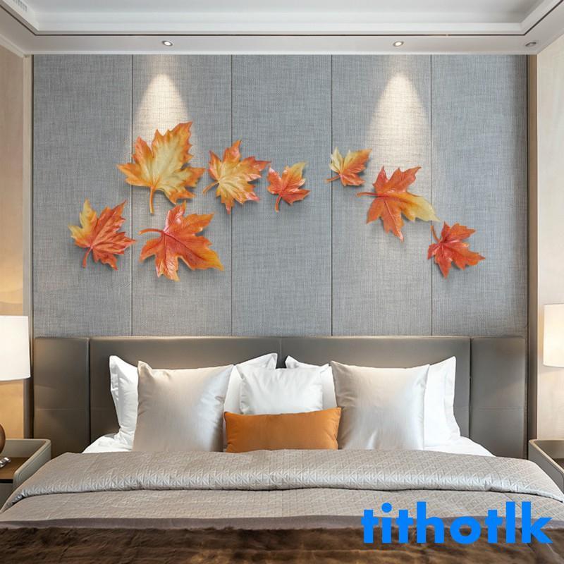 墻面裝飾裝修飾品創意臥室房間墻上客廳輕奢風DIY背景墻掛件楓葉