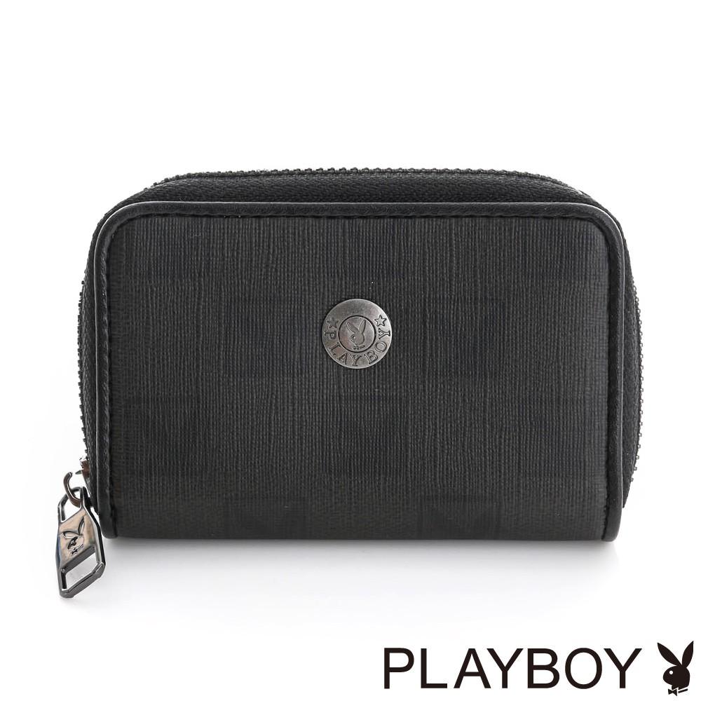 PLAYBOY- 零錢包 紳士棋盤兔系列-經典黑