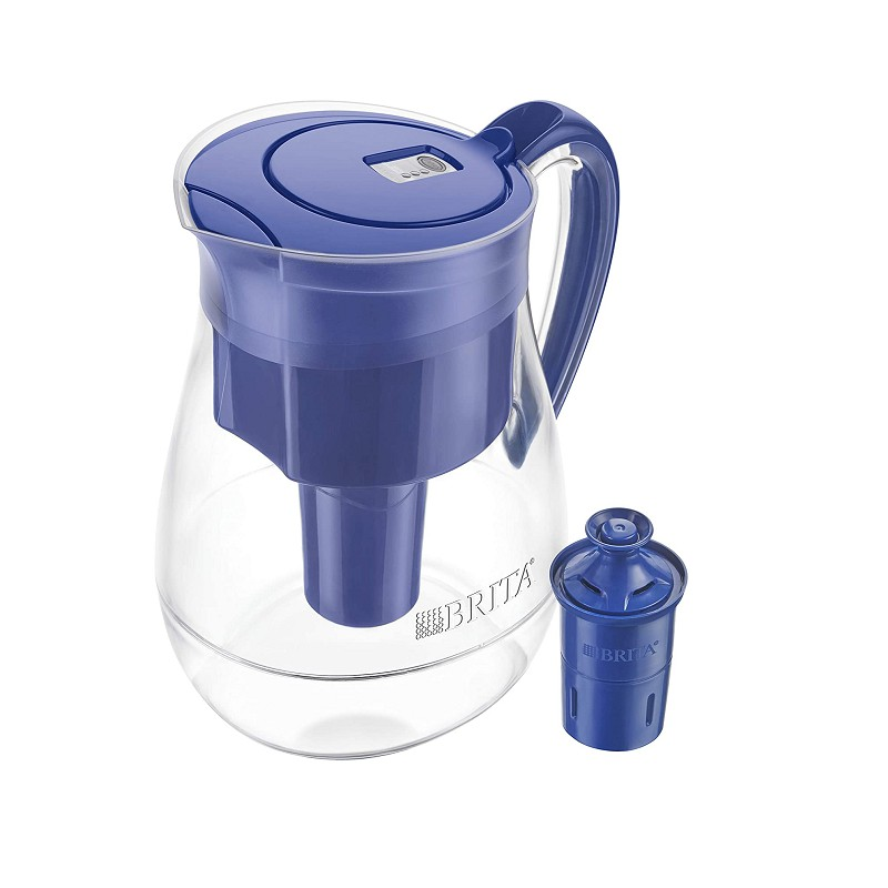 Brita 含30周長效濾心 Large 10 Cup Water Filter Pitcher with 1 Long
