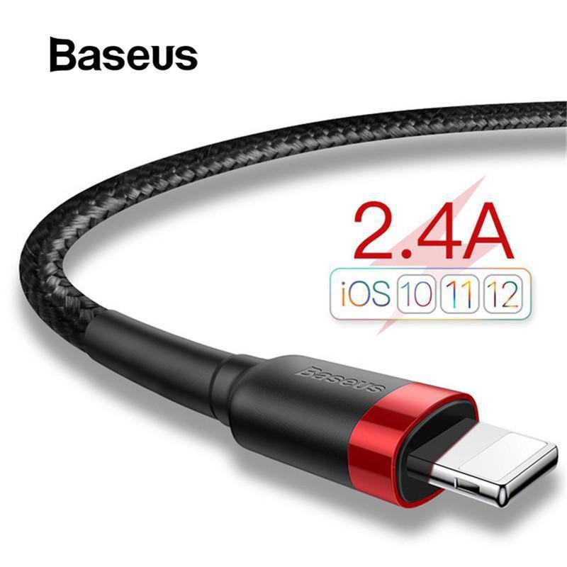 適用於iPhone 11 pro的Baseus iPhone USB快速數據線充電器(2.4A)Max Xs Max X