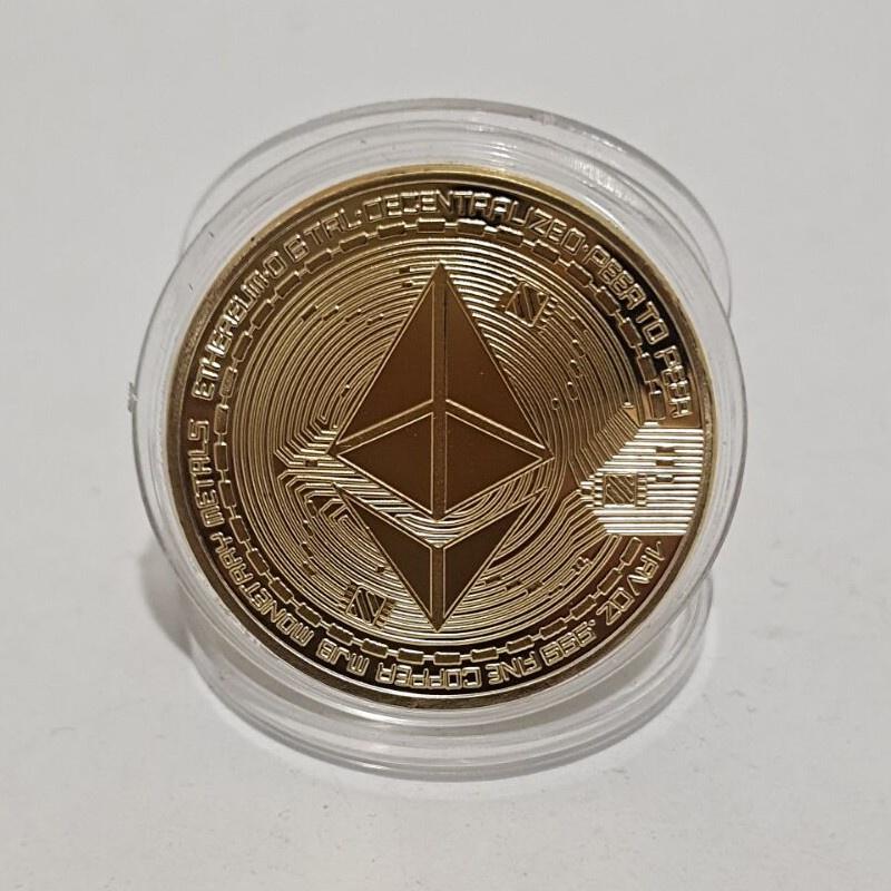 美國以太幣Bitcoin比特幣 外國硬幣虛擬幣把玩幣金屬工藝品小禮品