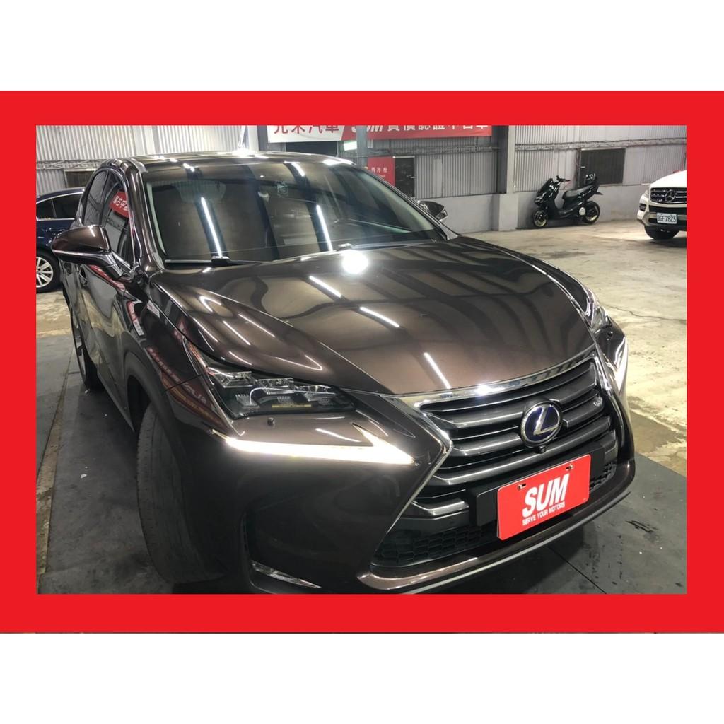 Lexus NX300h 旗艦版,茶褐棕,原廠加選手機無線充電,電動天窗