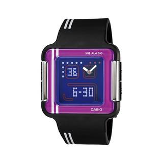CASIO POPTONE LCF-21-1 黑x紫 復古電玩畫面設計指針數字雙顯電子錶 原廠正品 高雄市