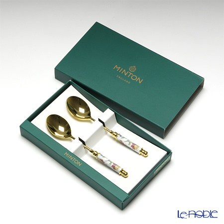 Wedgwood   Minton明頓 Haddon 哈頓系列咖啡勺鍍金現貨禮盒裝