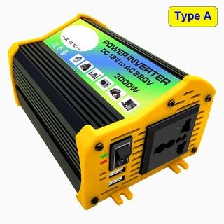 3000W雙USB汽車電源逆變器轉換器12V至220V /  110V修改波形