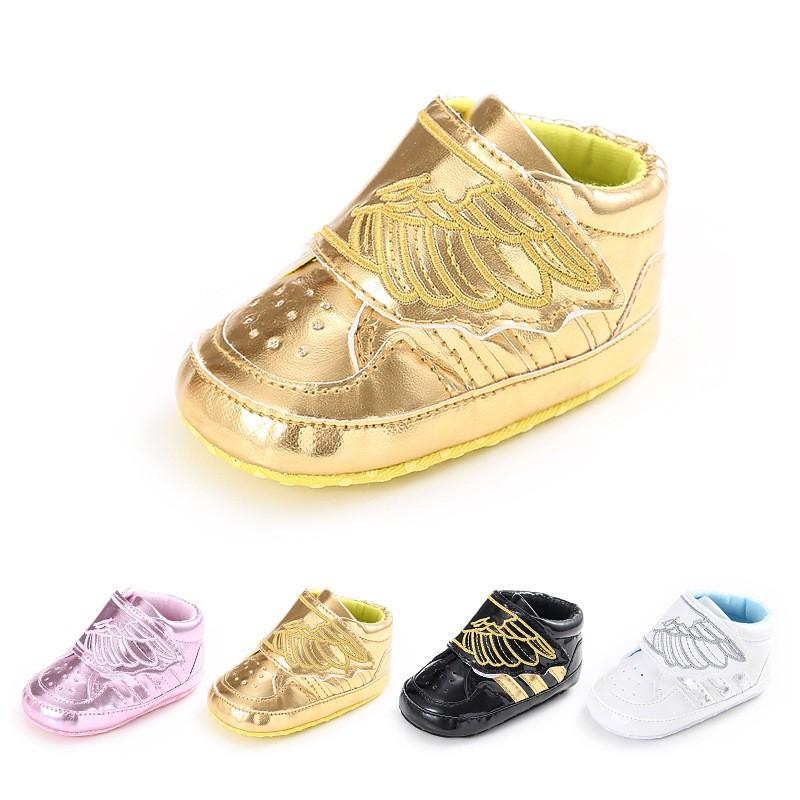 母嬰 新款童鞋嬰幼童寶寶鞋 春秋0-1歲男女寶寶時尚翅膀休閒嬰兒學步鞋舒適防滑學步鞋 童鞋