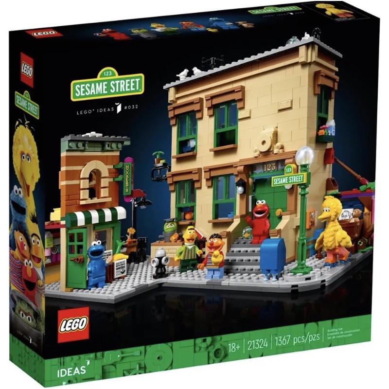 大安區可面交 盒況如圖 全新未拆 現貨 正版 LEGO 21324 123 芝麻街 ideas系列