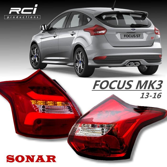 FORD FOCUS MK3 導光式樣 LED尾燈組 跑馬式方向燈 流水方向燈 SONAR