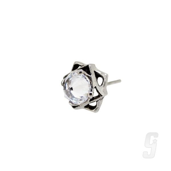 【赤軍寶飾】 赤軍 耳環496-單支 純銀 耳環
