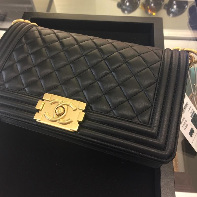 Chanel 經典boy 25 小羊皮 法國帶回 正貨 不二價 有購買證明