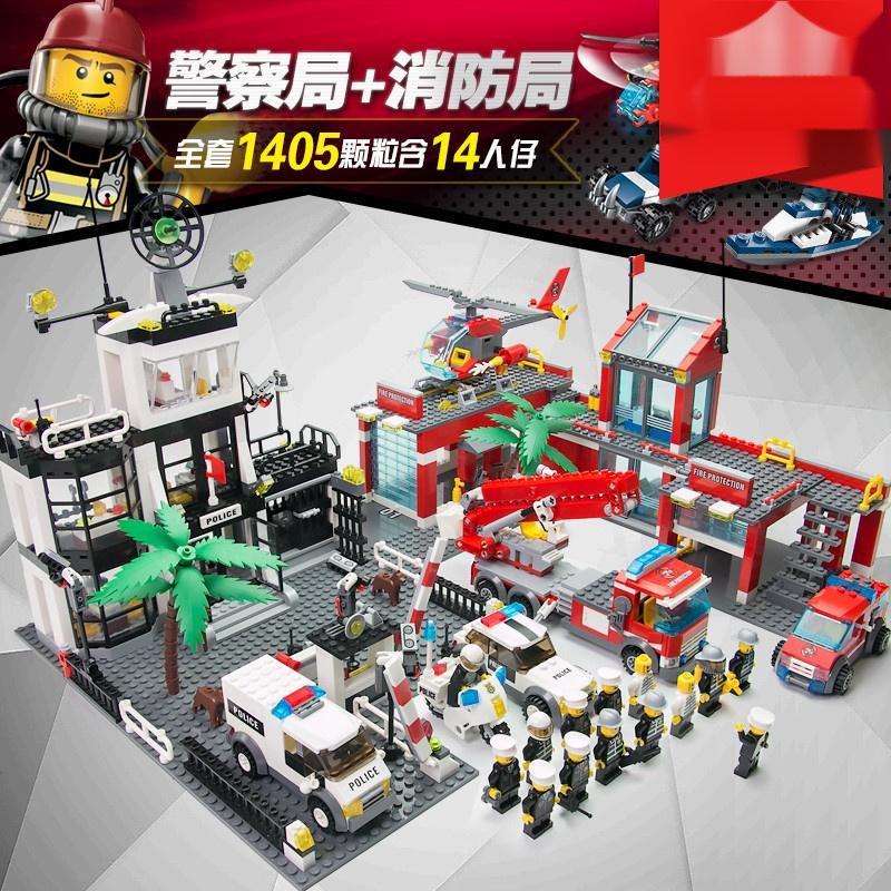 【現貨速發】關注立減350高難度LEGO樂高積木樂高官方積木城市系列警察局消防總局特警車軍事基地