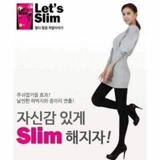 🇰🇷韓國 Let's slim 200D 高彈力機能瘦腿襪 臺南市