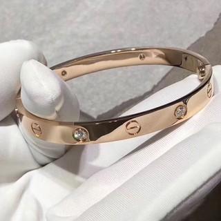❤NB-SUN❤卡地亞手環 愛情鎖LOVE手環 高規版 Cartier手環 男女情侶鈦綱手環 一字紋手環 鑲鑽手環