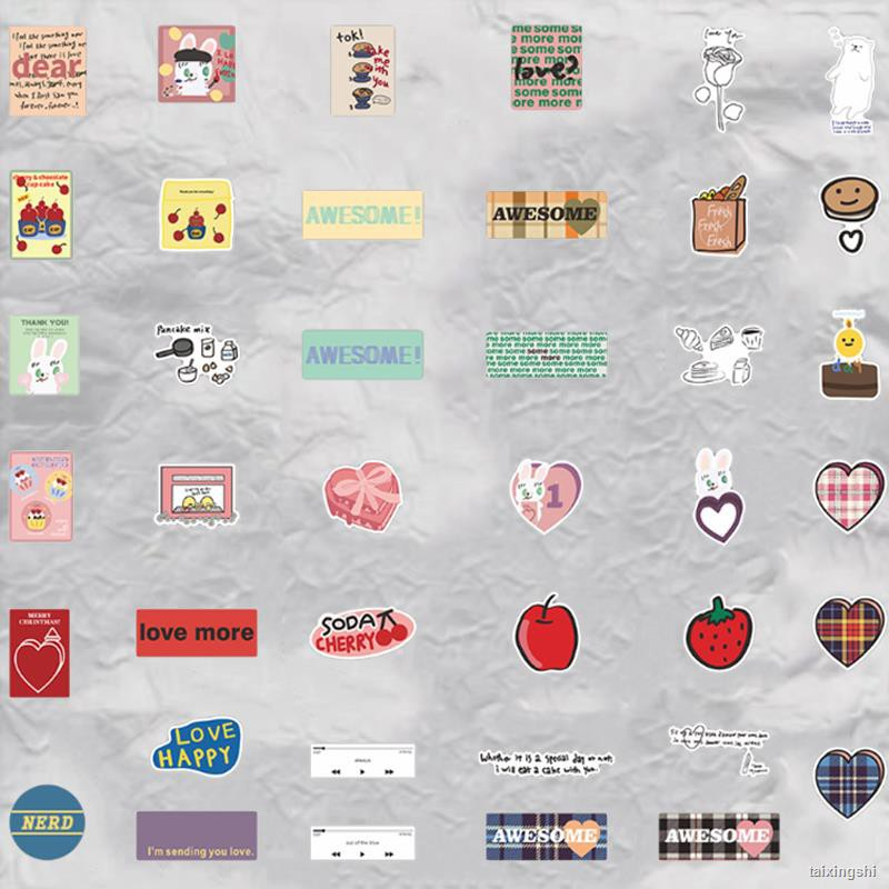 熱賣ஐ►❀ins風粉色愛心歐陽娜娜同款mazzzzy筆記本電腦貼紙ipad手機殼貼畫