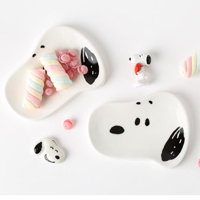 【漢娜代購】✨預購✨史努比造型盤 迷你點心盤 拍照道具 snoopy 10x10 韓國代購