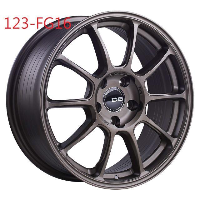DG FG16 17吋4/100旋壓輕量古銅色鋁圈~FIT YARIS KICKS(起標價非實際售價 請洽詢)