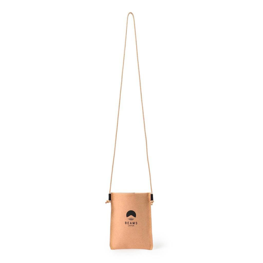 {NOIR} 全新正品 MAKOO × BEAMS JAPAN Phone case bag 再生皮革 日本製 手機袋