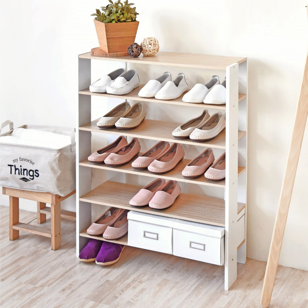 HOPMA 加寬開放式五層鞋櫃/收納櫃 C-S176