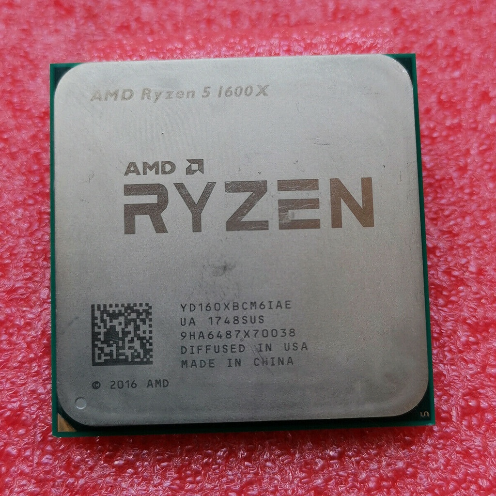 100% 正品 AMD Ryzen 5 1600X R5 1600X 處理器 3.6 GHz YD160XBCM6IAE