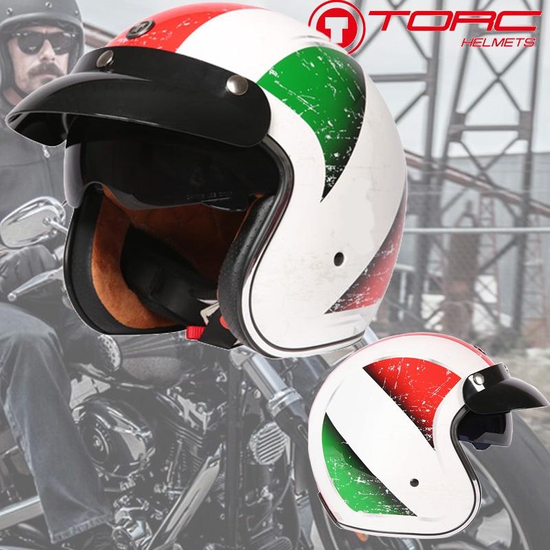 美國TORC復古機車頭盔男摩托車四季女半覆式電動車安全帽可愛夏季