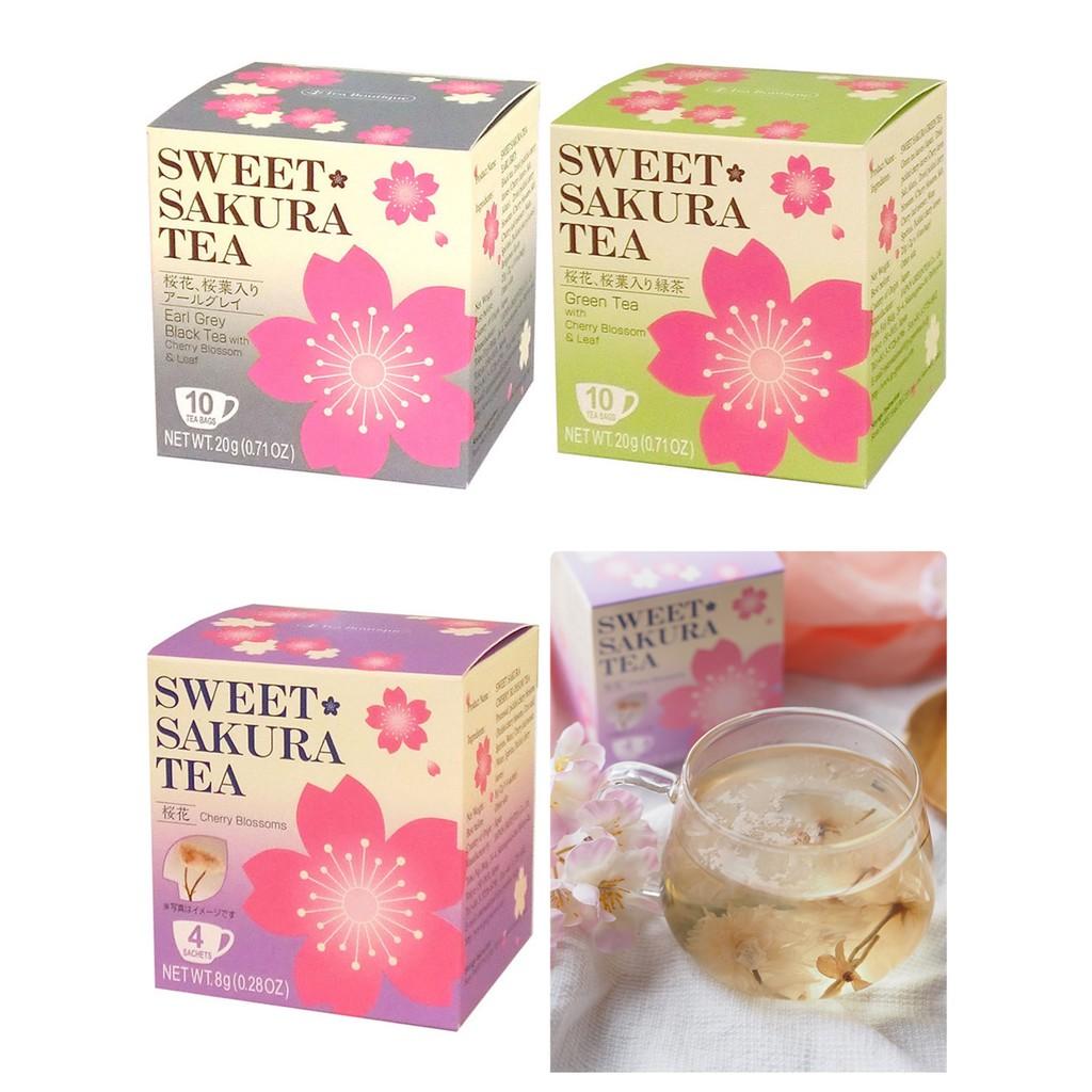 現貨馬上出 日本 Sweet Sakura Tea 櫻花茶 伯爵 紅茶 櫻花綠茶 茶包